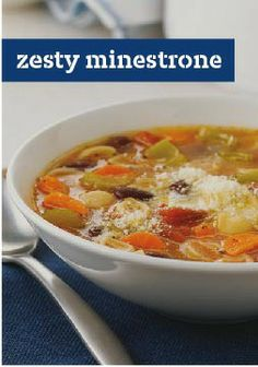 Zesty Minestrone – This slow-cooking, vegetarian version of an Italian classic is a smart one-pot way to enjoy veggies and warm pasta.