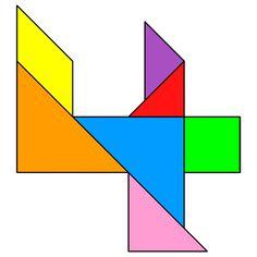 Tangram Four - Tangram solution - Providing teachers and pupils with tangram puzzle activities Kindergarten Centers, Math Centers, Tangram Puzzles, Sensory Activities, Business For Kids, Pattern Blocks, Teacher, Letters, Mondrian