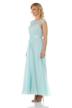 Elegant Lace Maxi Dress - at Roman Originals