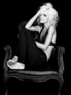 Like the contrast & comp. Alluring combination of clothing, hair, look, pose - inspiration for SexyMuse.com -