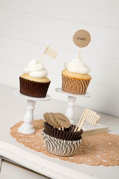 Brown party styling kit - great idea via The Papered Nest