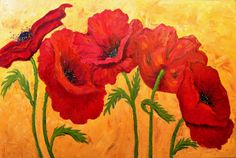 Christina's Poppies oil on canvas