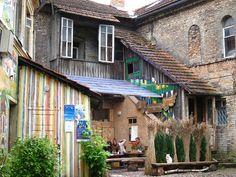 VILNIUS, LITHUANIA: Cafe in Republic of Užupis