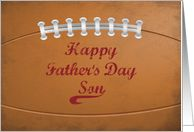 Son Father's Day Large Grunge Football for Sports Fan