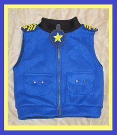 Paw patrol chase inspired jacket vest by Hamnascreations on Etsy