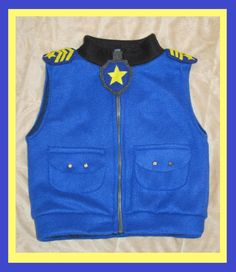 Paw patrol chase inspired jacket vest by Hamnascreations on Etsy