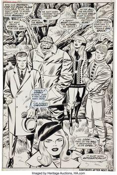 Dirty River — Fantastic Four #88, July 1969, original art by... Comic Book Pages, Comic Book Artists, Comic Artist, Comic Books Art, Jack Kirby Art, Jack King, Thing 1, Star Art, Comic Panels