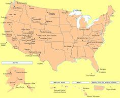 12 best National parks map images on Pinterest | Destinations ...