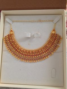 Gold Temple Jewellery, Silver Jewellery Indian, Gold Bangles Design, Gold Jewellery Design, Gold Jewelry Simple, Gold Choker Necklace, Bridal Jewelry Sets, Chocker, Chennai