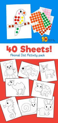 40 Animal Dot Activity – Do a Dot #preschool#animalprintables#kidsactivities