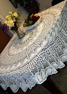 Beautiful Crochet Pineapple Tablecloth
