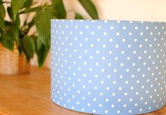 Sky Blue Polka Dot Handmade Lampshade