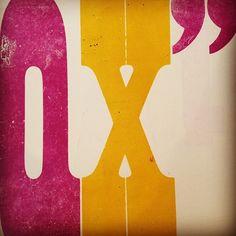 Glorious colours and shapes  — Craig Hazan, curator of Twenty-Six Types, at The Arm Letterpress studio in Brooklyn.  twentysixtypes: