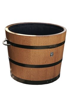 geschenkidee holzpflanzk bel rund klassisch eiche durchmesser 40 50 60cm. Black Bedroom Furniture Sets. Home Design Ideas