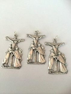 Jesus Sorrowful Mother Cross Lot of 3 Medal by BeattitudesGifts