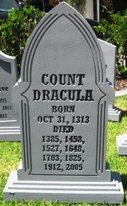Dracula Gravestone Halloween