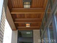 A natural alternative to aluminum and plastic, home-owners turn to Iron Woods Soffit, Paneling, Ceiling, Trim Modern Industrial, Mid-century Modern, Ceiling Trim, Moldings And Trim, Woods, Landscaping, Home And Family, Alternative, New Homes