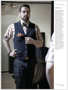 #DCStyleSyndicate Eliot Payne, owner/designer of Accoutre, a line of playful-yet edgy, handmade bow ties features unexpected fabrics, such as a metallic leopard print. Feat. in The Men's Issue of DC Modern Luxury Magazine #DCStyle