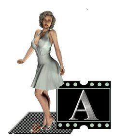 Alfabeto animado de Marilyn.