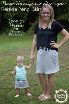 Mommy and Me: Pierside Pencil Skirt by New Horizons Designs