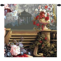Transform your home into a beautiful place of visual warmth and elegance with The Bouquet at the Gazebo #French #Tapestry: http://www.saveontapestries.com/bouquet-at-the-gazebo-french-tapestry
