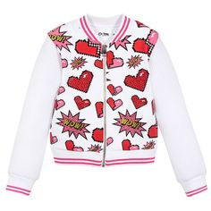 So Twee Girls White & Pink Jacket at Childrensalon.com