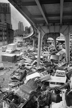 """Manhattan's Lower East Side 1970"" under the FDR"