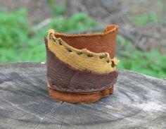 Soft Leather Cuff Elk Patchwork Bracelet  by FolkOfTheWoodCrafts, $20.00