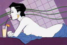 Patrick Nagel 80s Fashion Illustration