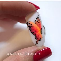 Butterfly Nail Designs, Nails Design, Hair And Nails, Nailart, Hair Beauty, French, Stickers, Animals, Butterflies