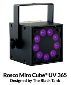 """Miro Cube® UV Energizes """"The Power Of Rock"""" - BRC Imagination Arts selected Rosco Miro Cube UV LED fixtures to illuminate specialty fluorescent graphics inside the Rock & Roll Hall of Fame."""