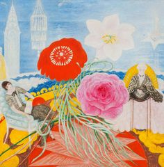 The Flamboyant Feminism of Cult Artist Florine Stettheimer - Florine Stettheimer, Family Portrait, II, Collection of the Museum of Modern Art. Museum Of Modern Art, Art Museum, Jewish Museum, Flamboyant, Art Station, Art Deco Fashion, Traditional Art, Family Portraits, Elegant