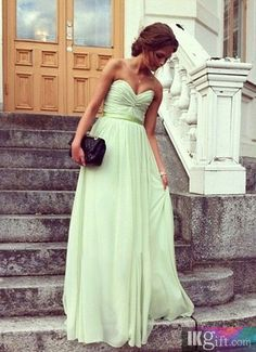 A line Sweetheart Chiffon Prom Dresses