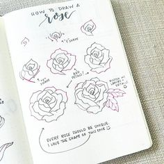It's time for #flowerfriday featuring... a rose!  The steps can be complicated but remember that every flower is unique and beautiful! Tag your flowers with #bonjournal so i can check them out. Seeing your artwork makes my heart smile