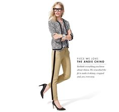 Crew Inspiration: Get creative with plaid this fall - it looks great with everything, from a boucle jacket to tuxedo pants and printed heels. J Crew Style, My Style, Viernes Casual, Tuxedo Pants, Navy Pants, Boucle Jacket, Tweed Jacket, Work Chic, Chanel