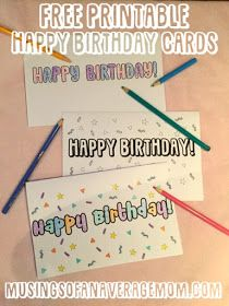 Free printable happy birthday cards to colour