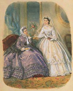 Gallery.ru / Фото #21 - Свадебная мода. Акварельные рисунки из книг мод за 1861-1896 - irgelena