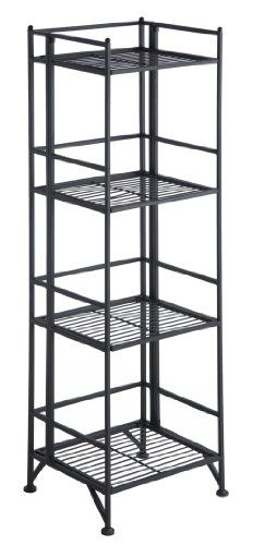 Convenience Concepts 8017B X-Tra Storage 4-Tier Folding Metal Shelf, Black Convenience Concepts http://www.amazon.com/dp/B005QLTR8O/ref=cm_sw_r_pi_dp_Nduaub0MT2VME