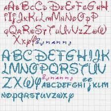 alfabeto corsivo punto croce - Cerca con Google