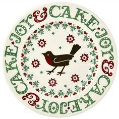 8½ Plate Christmas Joy Robin - Emma Bridgewater - Pine-apple - Importe