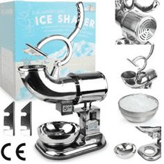 WYZworks Stainless Steel Commercial Heavy Duty Ice Shaver with 2 Extra Blades - Sno Snow Cone Shaved Icee Maker Machine Commercial Appliances, Specialty Appliances, Ice Shavers, Bad Room Ideas, Sno Cones, Yummy Ice Cream, Ice Bag, Kitchen Aid Mixer, Kitchen Appliances
