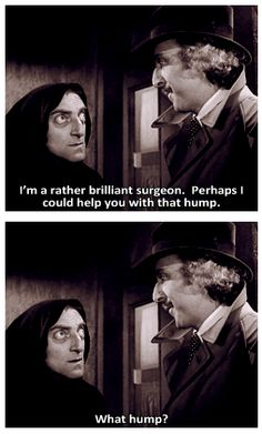 "Marty Feldman and Gene Wilder in ""Young Frankenstein.""  (1974)"