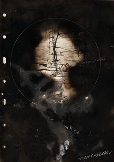 Nuit du 5.11.2012  encre, mine noire, fusain, cire, suie, pastel sur papier.  Jean Paul Marcheschi