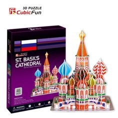 A fun and challenging #3Dpuzzle of St. Basil's Cathedral Constructed using CubicFun's unique slotting system.