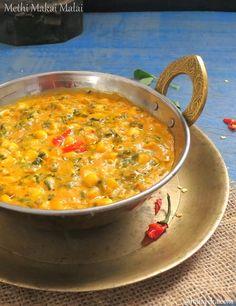 Maayeka - Authentic Indian Vegetarian Recipes: Methi Corn Malai, Fenugreek and Corn Curry