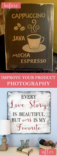 It's a known fact that great images will attract more viewers or customers to your site. Learn how to improve your photography and start to increase yours views, repins and sales!  #productphotography from Marie Branding Co.