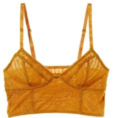 Intimately Free People Lace Cropped Bra (455 ARS) ❤ liked on Polyvore featuring intimates, bras, tops, underwear, lingerie, orange, lace camis, lingerie camisole, crop bra and orange bra