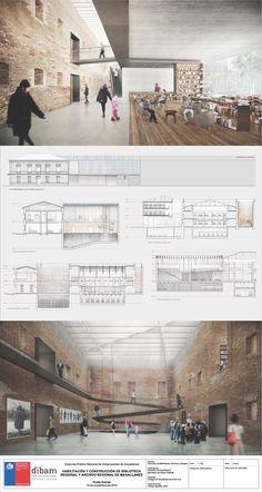 Segundo Lugar en concurso de habilitación y construcción Archivo y Biblioteca Regional de Punta Arenas / Chile,Lámina #03. Image Cortesía de LyonBosch Arquitectos y B+V Arquitectos