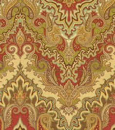 Home Decor Print Fabric- Waverly Paisley Verse Vintage
