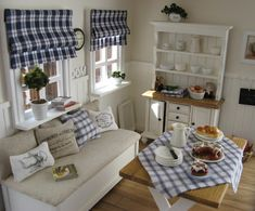 Crisp Blue & White Country Kitchen